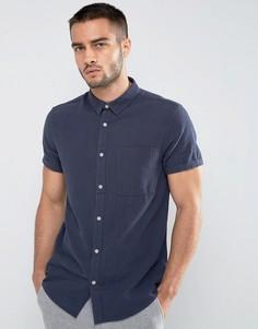 Темно-синяя рубашка стандартного кроя New Look - Темно-синий