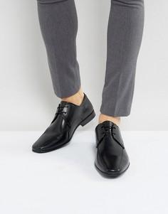 Кожаные строгие туфли Burton Menswear - Черный