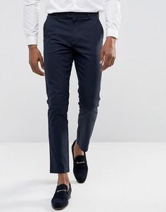 Строгие чиносы слим Burton Menswear - Темно-синий