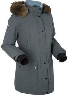 Удлиненная функциональная куртка с капюшоном (антрацитовый) Bonprix