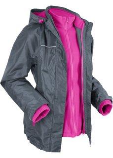 Функциональная куртка в стиле три в одном (антрацитовый/фиолетовая орхидея) Bonprix