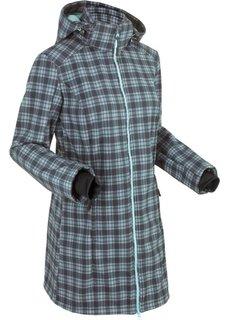 Функциональная куртка софтшелл (пастельная аква/шиферно-серый в клетку) Bonprix