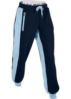 Длинные трикотажные брюки (темно-синий) Bonprix