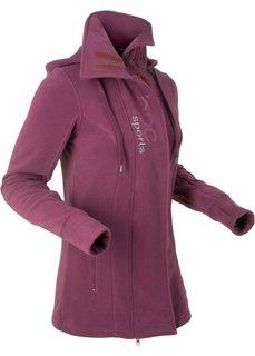 Удлиненная флисовая куртка (красная ягода) Bonprix