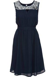 Вечернее платье с пайетками (синий) Bonprix