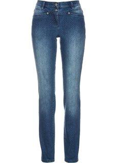 Стрейчевые джинсы в горошек (синий «потертый») Bonprix