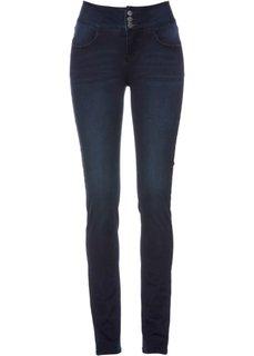 Стрейчевые джинсы на удобном поясе (темно-синий «потертый») Bonprix