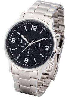 Мужские металлические часы (серебристый) Bonprix