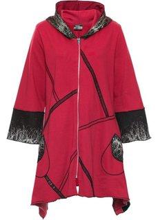 Трикотажная куртка (красный с рисунком) Bonprix