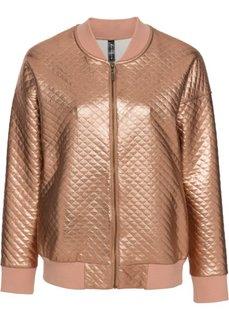 Куртка-бомбер из блестящего материала (медный/натуральный камень) Bonprix