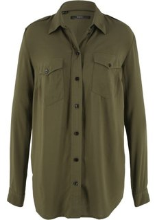 Рубашка (темно-оливковый) Bonprix