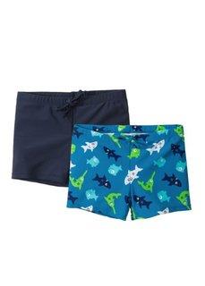 Купальные плавки для мальчиков (2 шт.) (темно-синий/бирюзовый) Bonprix