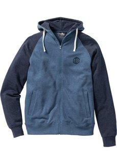 Трикотажная куртка Slim Fit (синий/темно-синий меланж) Bonprix