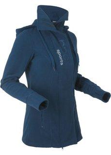 Удлиненная флисовая куртка (темно-синий) Bonprix