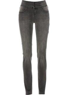 Стрейчевые джинсы на удобном поясе (серый деним) Bonprix
