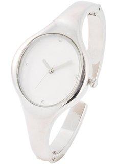 Часы-браслет (серебристый/белый) Bonprix