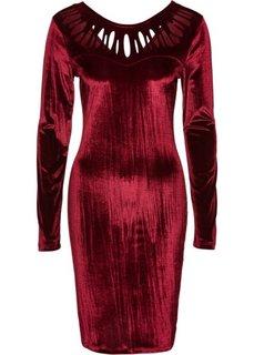 Велюровое платье (гранатовый) Bonprix