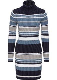 Трикотажное платье (темно-синий/серый) Bonprix