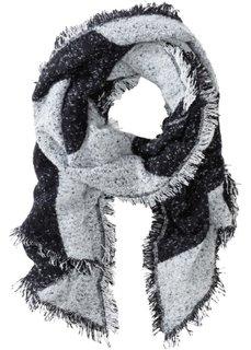 Нежный шарф XXL (черный/белый в полоску) Bonprix