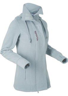 Удлиненная флисовая куртка (серебристо-серый) Bonprix