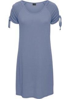 Трикотажное платье с драпировками (нежно-голубой) Bonprix