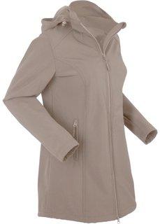 Куртка-парка софтшелл (серо-коричневый) Bonprix