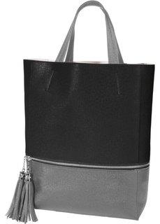 Цветная сумка (черный/серый) Bonprix