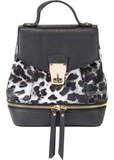 Мини-рюкзак Лео (леопардовый/черный) Bonprix