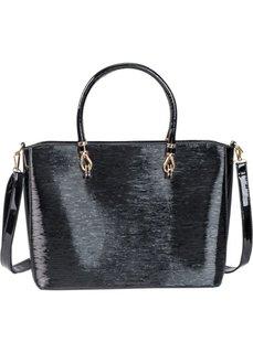 Лаковая сумка в офисном стиле (черный) Bonprix