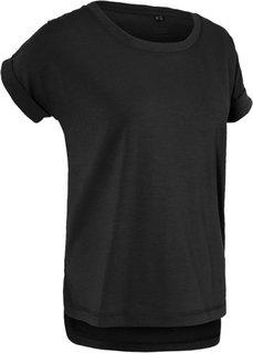 Спортивная футболка с коротким рукавом (черный) Bonprix