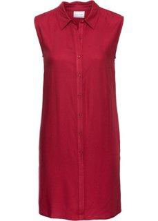 Удлиненная блузка без рукавов (темно-красный) Bonprix