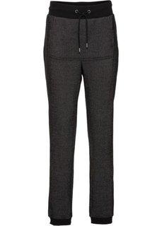 Трикотажные брюки (серый меланж) Bonprix