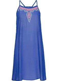 Пляжное платье (синий) Bonprix