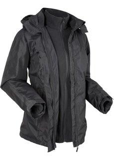 Функциональная куртка 3 в 1 с капюшоном (шиферно-серый) Bonprix