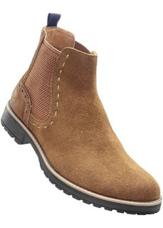 Кожаные ботинки-челси (коньячно-коричневый) Bonprix