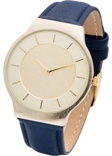 Часы на классическом браслете (темно-синий/золотистый) Bonprix