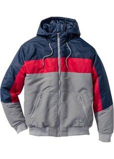 Куртка Regular Fit (серый/темно-синий/красный) Bonprix