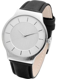 Часы на классическом браслете (черный/серебристый) Bonprix