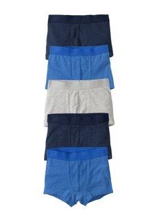 Боксеры-брифы (5 шт.) (ледниково-синий + темно-синий + светло-серый меланж) Bonprix