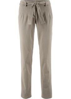 Стрейчевые брюки с текстильным поясом (новый хаки) Bonprix