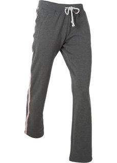 Спортивные брюки с вышивкой (шиферно-серый меланж) Bonprix