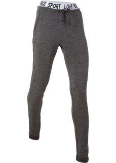 Легкие спортивные брюки (шиферно-серый меланж) Bonprix