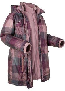 Куртка 3 в 1 (ягодный в клетку) Bonprix