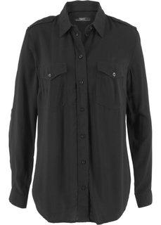 Рубашка (черный) Bonprix