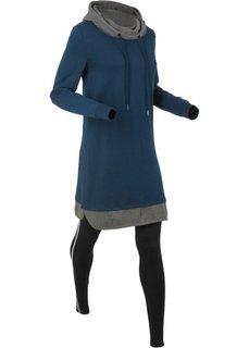Трикотажное платье + легинсы (2 изд.) (темно-синий) Bonprix