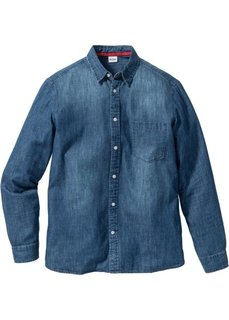 Джинсовая рубашка Regular Fit с длинным рукавом (синий) Bonprix