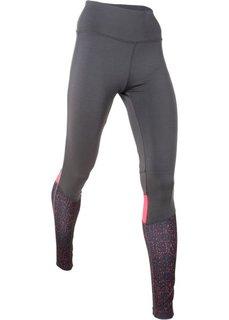 Длинные брюки для бега (шиферно-серый) Bonprix