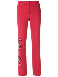 embroidered tailored trousers Martha Medeiros