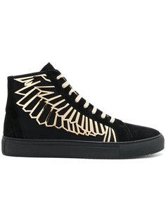 кроссовки на шнуровке с вышитыми крыльями Marcelo Burlon County Of Milan