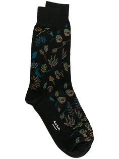 носки с цветочным принтом Paul Smith